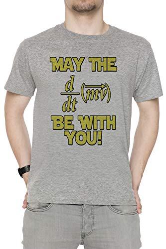 Tutti Grey Corte Girocollo All You Uomo Grigio May Be Men's Sizes Dimensioni T Force shirt With Geek The Physics Maniche OnATq6x