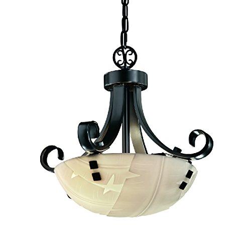 Justice Design Group Lighting Pna-9740-35-Banl-Mblk-F2-LED2-2000 Porcelina-Scrolls with Finials 19