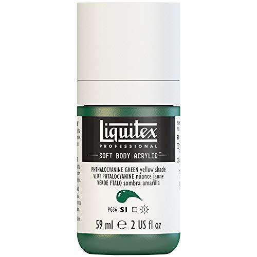 Liquitex Professional Soft Body Acrylic Paint 2-oz bottle, Phthalocyanine Green (Yellow Shade)