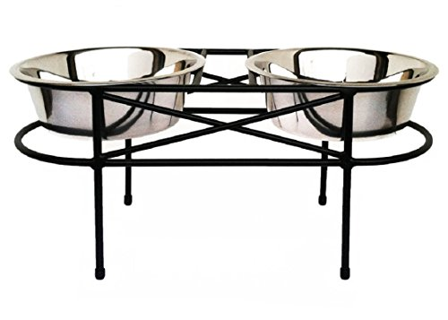 Mesh Double Bowl Elevated Diner - 10