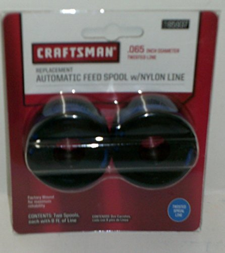 CRAFTSMAN Replacement Automatic Feed Spool /w Nylon Line, 8 Feet. of .065 '' Twisted Spiral Line, #71-85937 by Craftsman