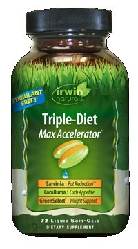 Irwin Naturals Triple Diet Max Accelerator, 72 Softgels Each (Pack of 6) by Irwin Naturals