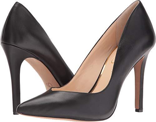 Jessica Simpson Women's Cylvie Dress-Pump, Black Leather, 5.5 M US