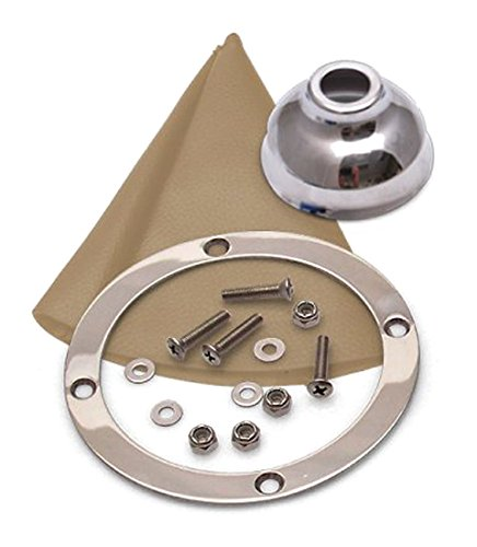 American Shifter 352164 TH400 Shifter 8 Trim Kit CHR Dual Shift Cap TN Boot Ringed Knob for CA4C1