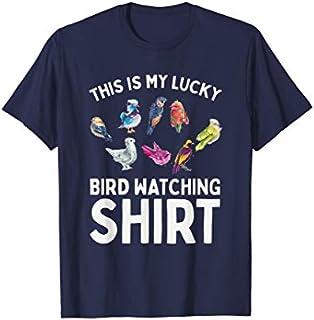 This Is My Lucky Bird Watching  Gift Birding Bird T-shirt   Size S - 5XL