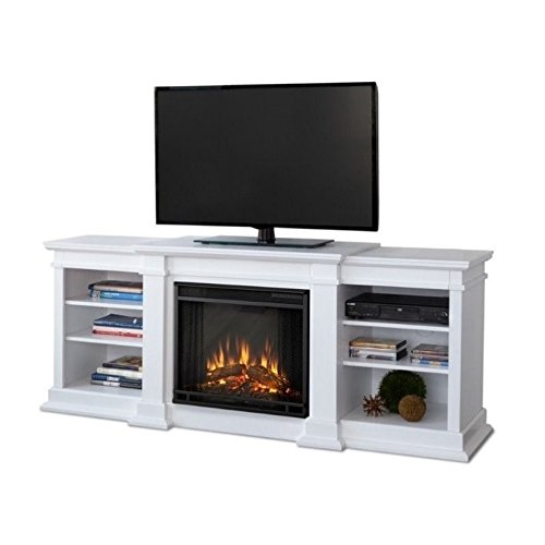 Real Flame G1200E-W Unit G1200E Fresno Entertainment with Electric Fireplace Large White