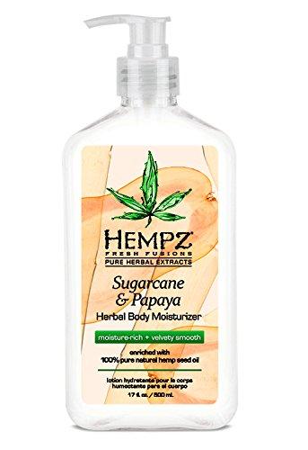 (Hempz Herbal Body Moisturizer, Sugarcane & Papaya, 17 Ounce)