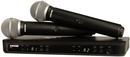 41RlyJSayWL - Shure BLX288/PG58 Wireless Vocal Combo with PG58 Handheld Microphones, J10