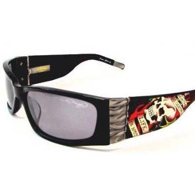 Ed Hardy EHS-015 Death Is Certain Sunglasses - Black/Gray