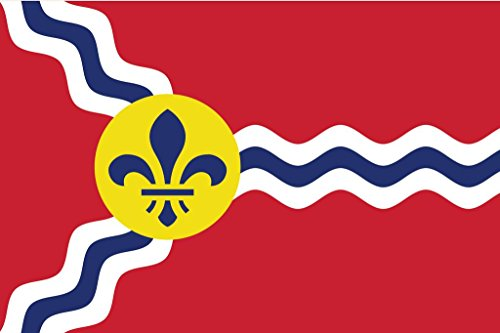 - JMM Industries Saint Louis City Flag Missouri Vinyl Decal Sticker Gateway to The West Car Window Bumper 2-Pack 5-Inches by 3-Inches Premium Quality UV-Resistant Laminate PDS364