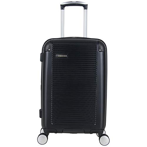 BEN SHERMAN Norwich Collection Lightweight Hardside PET Expandable 8-Wheel Spinner Luggage, Midnight Black, 20-Inch…