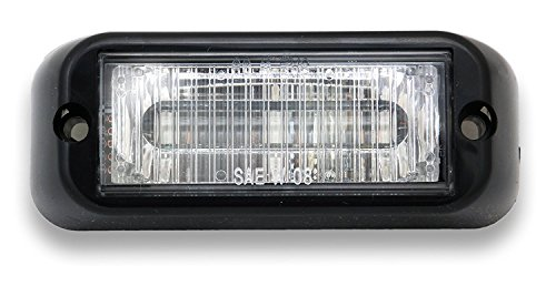 Abrams SAE Class-1 Edge Series (Red) 9W - 3 LED Volunteer Firefighter POV Vehicle Truck LED Grille Light Head Surface Mount Strobe Warning Light (Lens Pov Series)