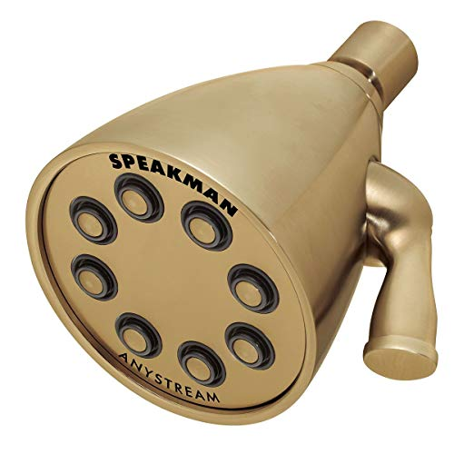 Speakman Brass Shower - Speakman S-2251-BBZ Signature Icon Anystream High Pressure Adjustable Solid Brass Shower Head, Brushed Bronze (Renewed)