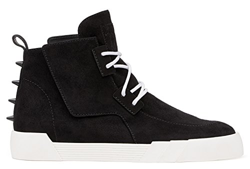 Giuseppe Zanotti The Shark' Studded Side Closure Flap High-Top 8 US/41 EU (Suede Studded Flap)