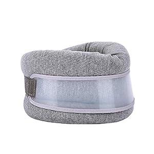 DrSLPar Neck Brace Support Soft and Adjustable Cervical Collar for Sleeping,(28-45,Grey) 10