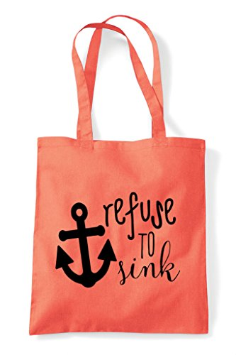 Strength Anchor To Refuse Bag Coral Statement Tote Sink Shopper qw4SWRCpa