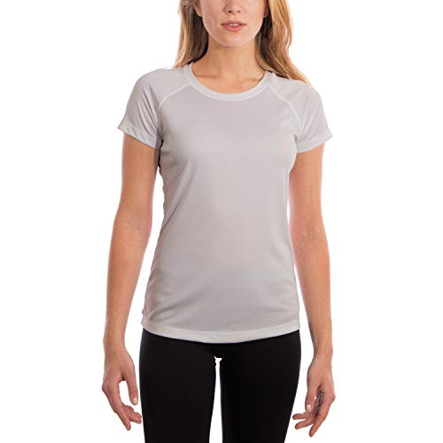 Vapor Apparel Women's UPF 50+ UV Sun Protection Outdoor Performance Short Sleeve T-Shirt Medium Pearl Grey