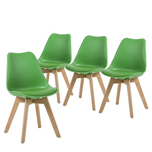 NOBPEINT Eames-Style Mid Century Dining Chairs (Set of 4 Green)