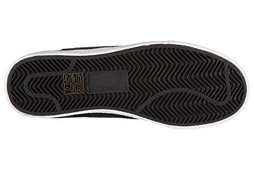 Emporio Armani EA7 chaussures baskets sneakers femme en daim pride noir