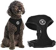 Gooby - Peitoral de malha macia, peitoral para cães pequenos com malha respirável, preto, médio