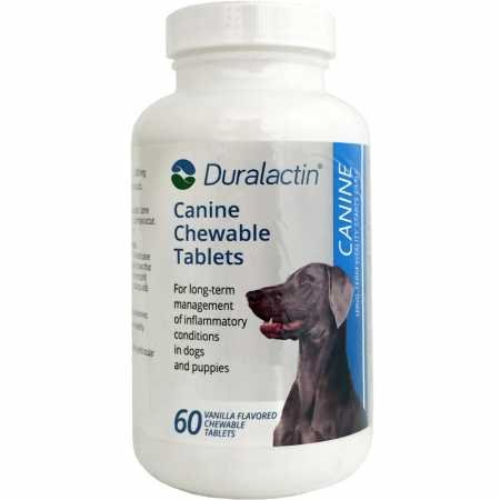 Duralactin Canine, 60 Chewable Tablets (Dogs Scored Chewable Tablets)