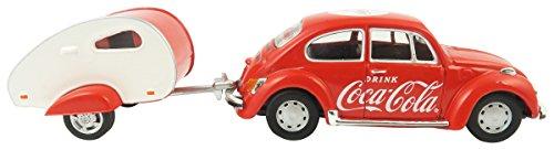 Coca-Cola 1/43 1967 VW Beetle with Teardrop Trailer