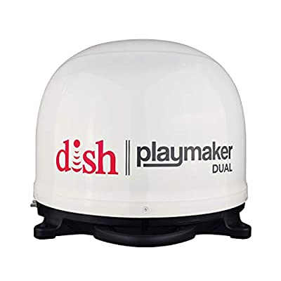 Winegard Dish Playmaker (Dual HD RV Satellite Antenna Dual Receiver Capability, Optional RV Roof Mount),1 Pack