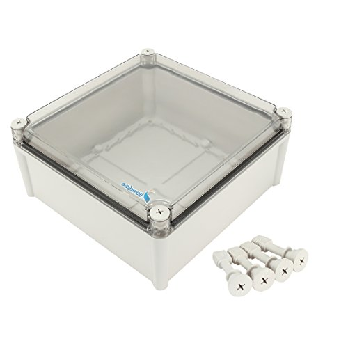 uxcell 11'x11'x5.1'(280mmx280mmx130mm) ABS Junction Box Universal Project Enclosure w PC Transparent Cover