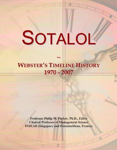Sotalol: Webster's Timeline History, 1970 - 2007