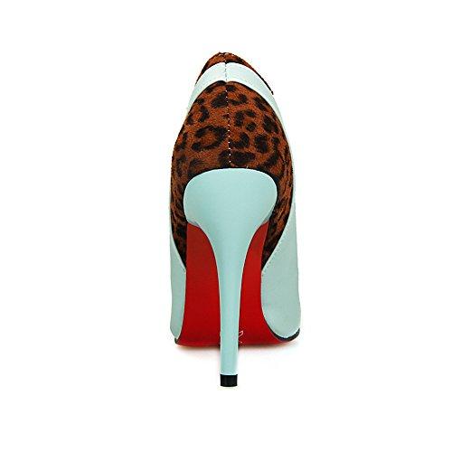 mujer Heel Tacón Azul Fashion de Zapatos wOAIxYwnqg