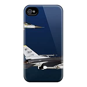 Excellent Design Two F16 Fighting Falcon Aircrafts Phone Case For Iphone 4/4s Premium Tpu Case