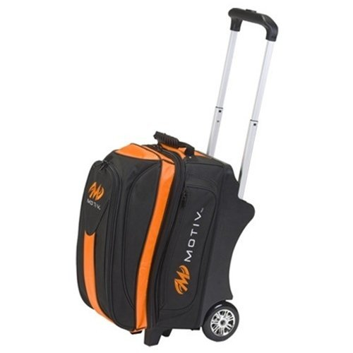 MOTIV Double Roller Bowling Bag- Black/Orange by MOTIV Bowling Products