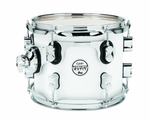 Pacific Drums PDCM0810STPW 8 x 10 Inches Tom with Chrome Hardware Pearlescent White [並行輸入品] B07BRZCD82