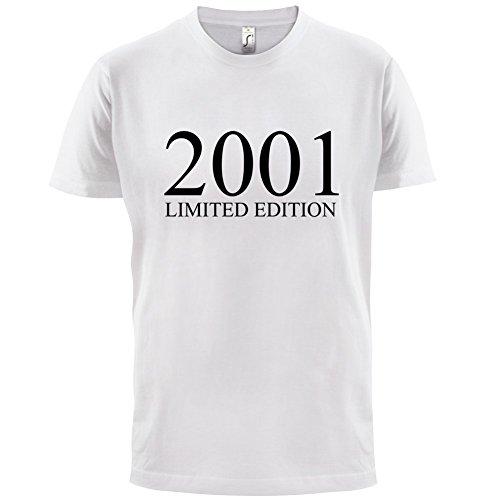 2001 Limierte Auflage / Limited Edition - 16. Geburtstag - Herren T-Shirt - Weiß - XXXL
