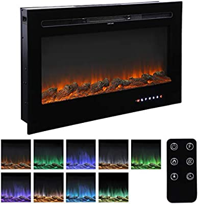 Amazon Com Homedex 36 Recessed Mounted Electric Fireplace Insert