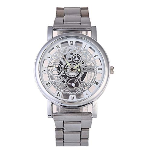 Cole Silver Dial - Mikilon Luxury Watches Quartz Watch Stainless Steel Dial Casual Bracele Watch (Silver)