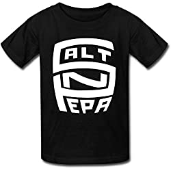 LUYI Kid's Salt N Pepa Band Logo Tshirts L Black