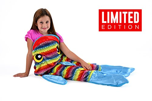 Double Rainbow Costume (Snuggie Tails Rainbow Fish Blanket For Kids)
