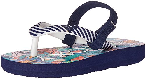 Roxy TW Pebbles V 3 Point Sandal (Toddler), Multi, 5 M US Toddler - Three Pebbles