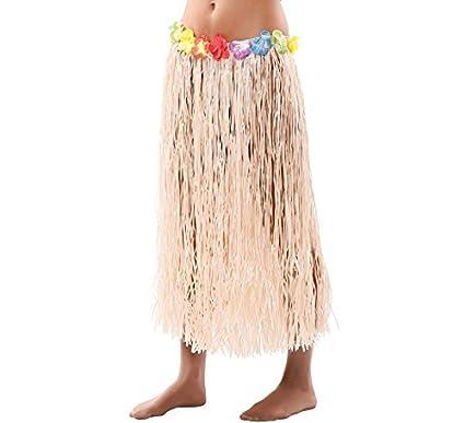 EUROCARNAVALES Falda Hawaiana con Flores 80 cm: Amazon.es ...