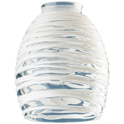 Westinghouse Lighting Corp Glass Shade, Clear with White Rope Design