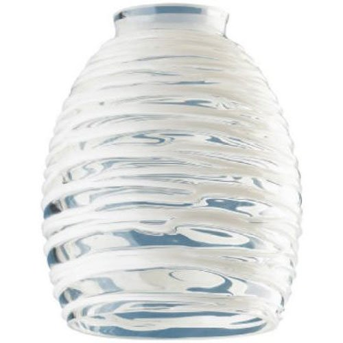 - Westinghouse Lighting Corp Glass Shade, Clear with White Rope Design (81314)