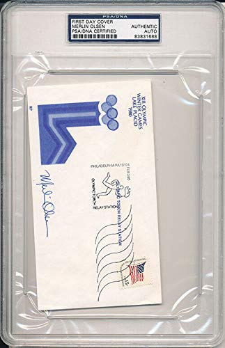 PSA/DNA Autographed Signed Autograph First Day Cover Merlin Olsen 1688
