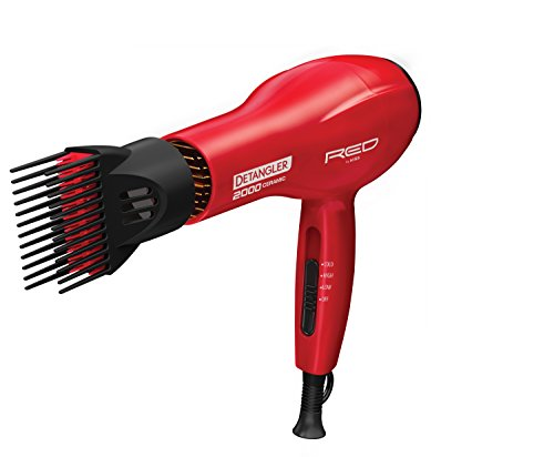Kiss Products Red Detangler Dryer Plus 3 Attachments