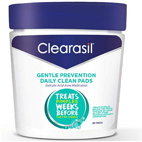 Clearasil Daily Clear Acne Face Pore Cleansing Pads, Hydra-Blast Oil-Free Facial Pads, 90 ct