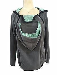 Sexyshine Women's Maternity Coat 3in1 Baby Carrier Jacket Kangaroo Hoodie Outwear