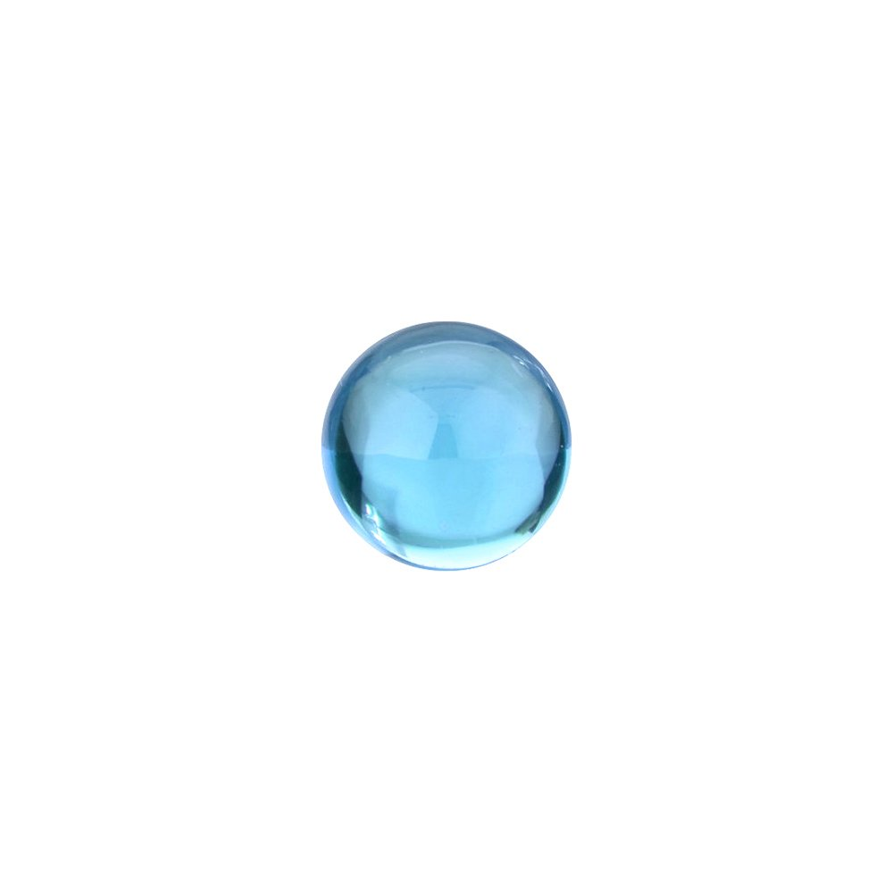 Mysticdrop 1.52-2.57 Cts of 7x7 mm AA Round Cabachon Swiss Blue Topaz (1 pc) Loose Gemstone