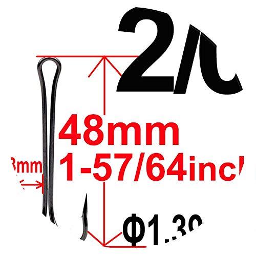 20Pcs Long Shank Double Hook Weedless Fishing Hook Fly Tying Duple Hook for Jig Bass Fish Hook Fishing Tackle,2L0