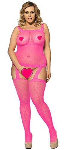 Marysgift I30292 Donna Maglia Camicia Da Calza Pesce Bodystockings Notte Notte Netto Aperto Cavallo Vestito Corpo lingerie Masquerade rraAq