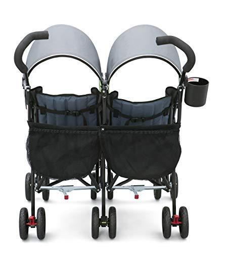 41Rm5GdlfrL - Delta Children LX Side By Side Tandem Umbrella Stroller, Lime & Green